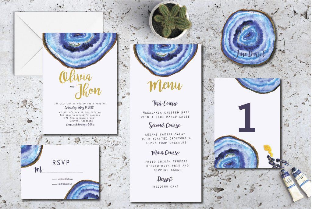 DIY Wedding Menu Design Inspiration