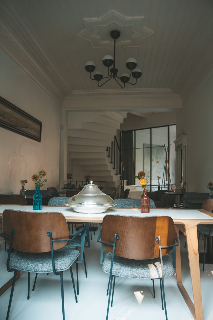 Dining Room Inspiration - Personalise Your Eating Space. Old tables and modern chairs.
