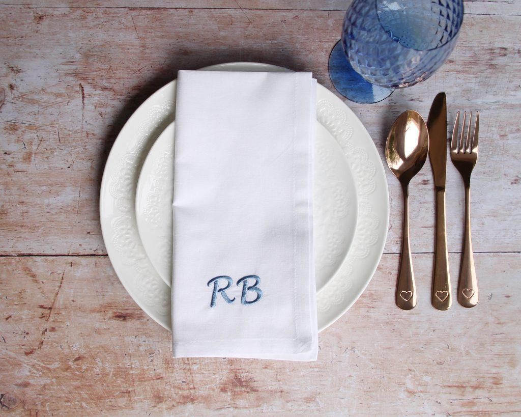Monogrammed Napkin - Dining Room Inspiration: Personalise Your Eating Space